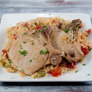 Pressure Cooker Pork Chops and Rice.