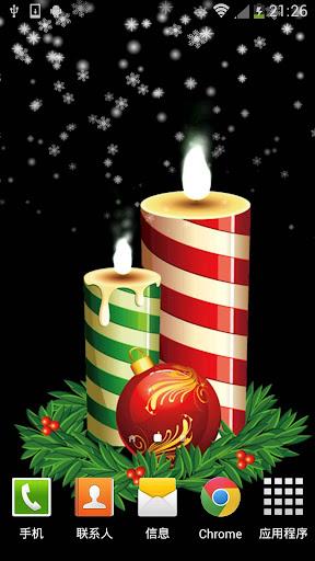 玩免費個人化APP|下載圣诞蜡烛动态壁纸 app不用錢|硬是要APP