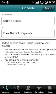 SciVerse Scopus Alerts - screenshot thumbnail
