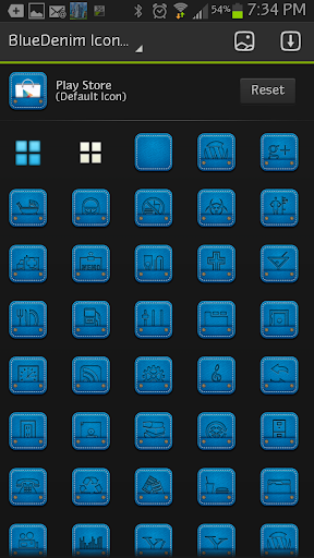 ICON SET BlueDenim