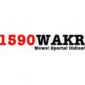 1590 WAKR Radio Social Suite logo