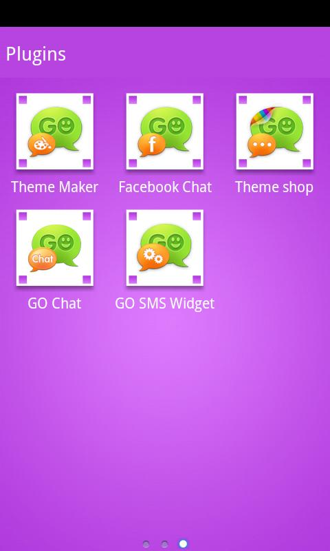 GOSMSTHEME Bubble Purple - screenshot