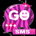 GO SMS Pro Theme Pink Zebra