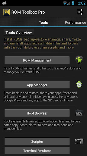 ROM Toolbox Pro apk tools overview