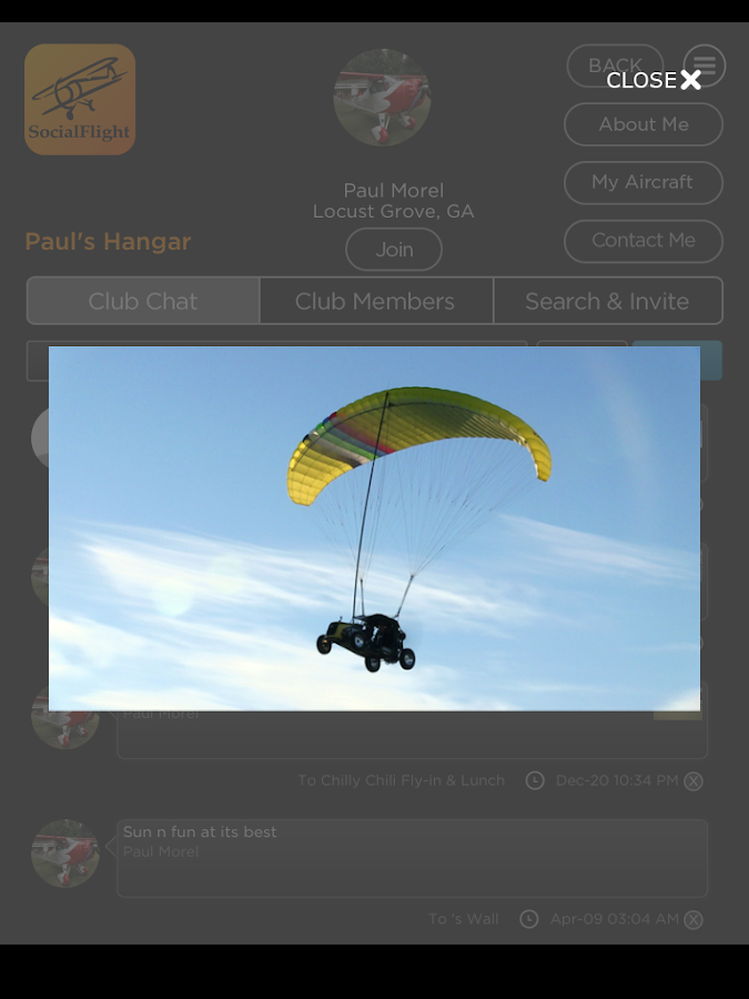 SocialFlight - screenshot