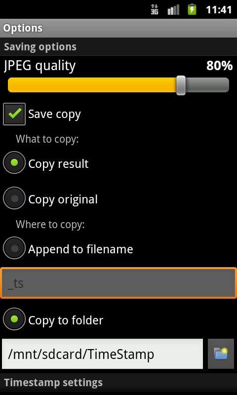 APD TimeStamp+ - screenshot