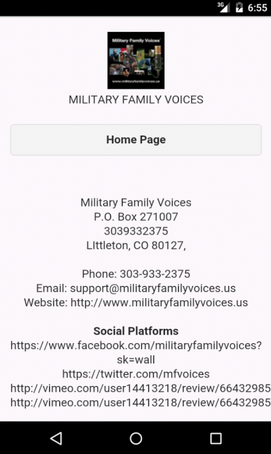 Military Family Voices Mobile- screenshot