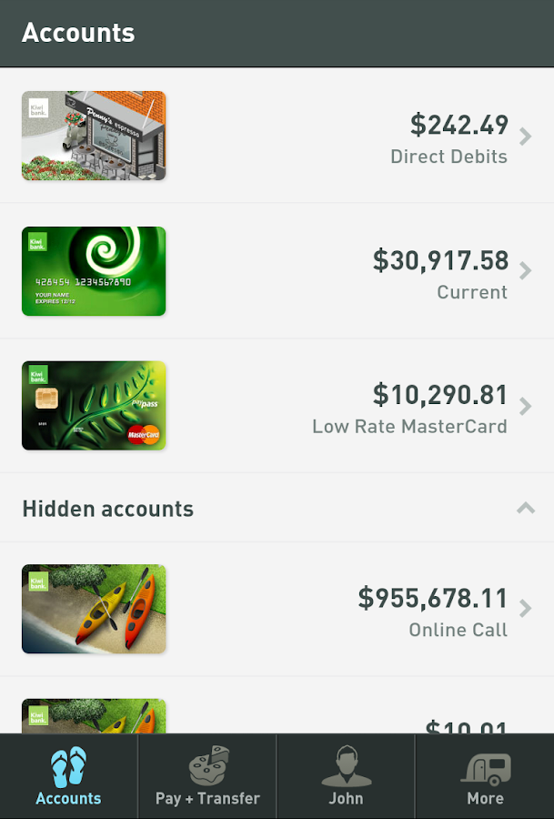 Kiwibank Mobile Banking - screenshot