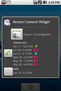 Recent Contacts Widget - screenshot thumbnail