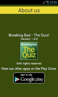 Breaking Bad - The Quiz! - screenshot thumbnail