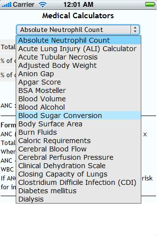 Health and Medical Calculators- screenshot
