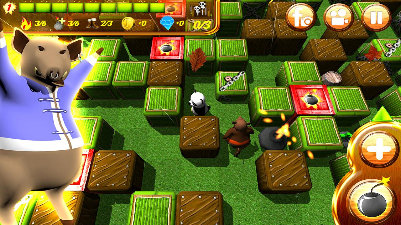 Hero Panda Bomber: 3D Fun- screenshot