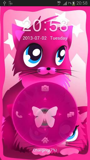 ピンクの猫のテーマ4 GOロッカー