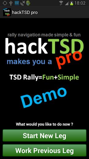 hackTSDpro Rally Computer Demo