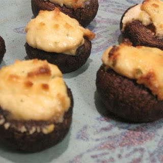 Boursin-Stuffed Mushrooms.