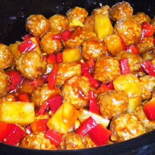 Easy Crockpot Sweet and Sour Meatballs.