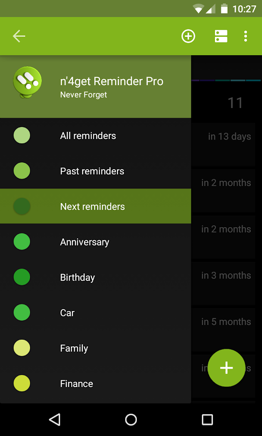 n'4get Reminder- screenshot