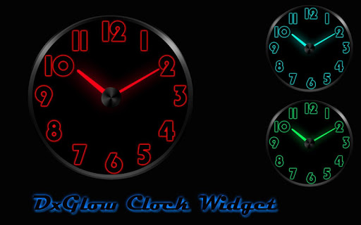 DX Glow - Clock Widget