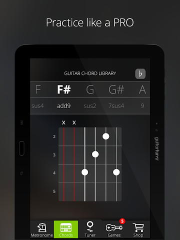 android Accordeur Guitares -GuitarTuna Screenshot 11