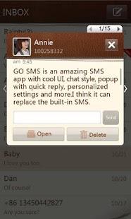 GO SMS Pro SimplePaper theme Screenshot 2