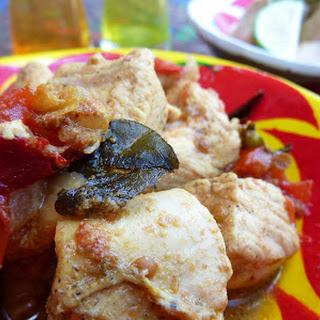 Spicy Indian Chettinad Chicken.