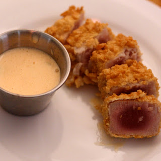 Rice Cracker-Crusted Tuna with Spicy Citrus Sauce