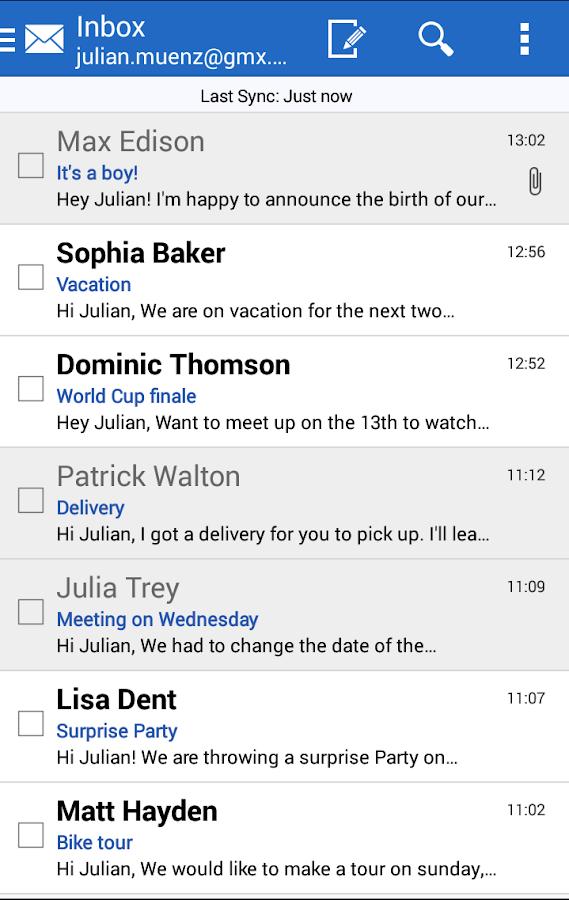 GMX Mail - screenshot