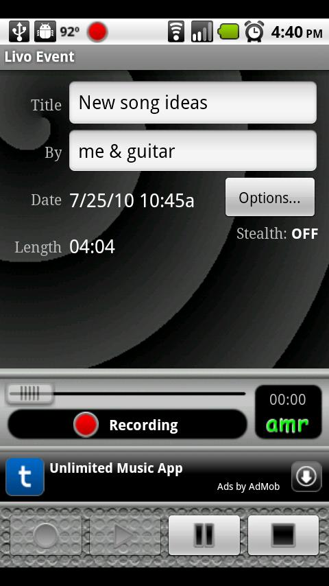 Livo Recorder Lite- screenshot