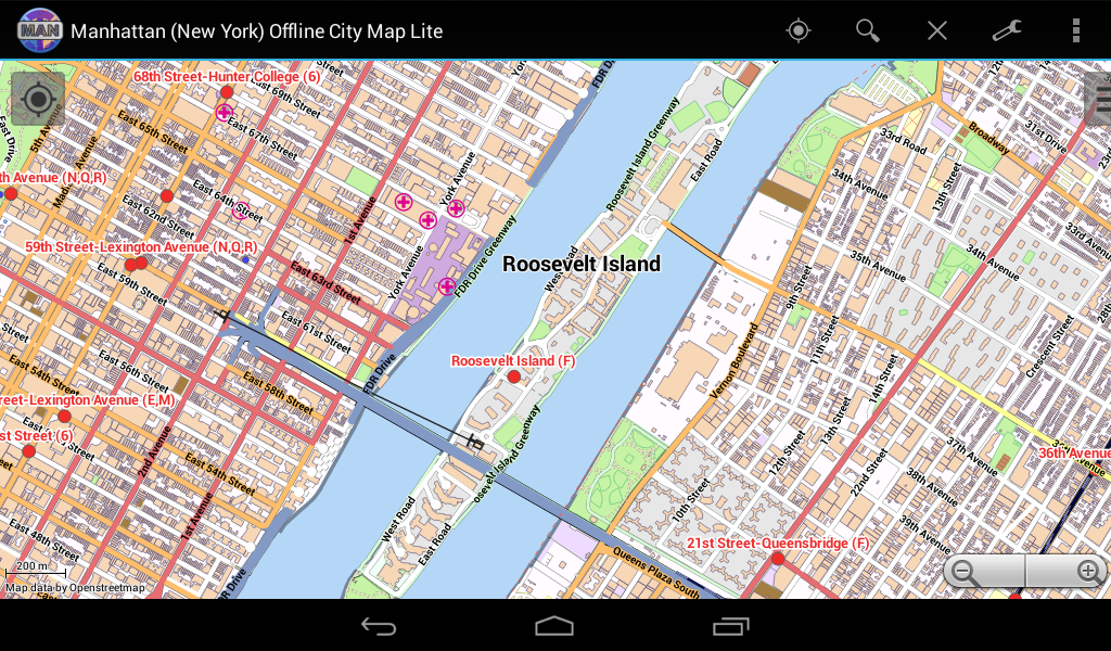 manhattan city map lite android apps on google play. Black Bedroom Furniture Sets. Home Design Ideas
