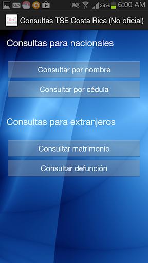 Consultas TSE CR No Oficial
