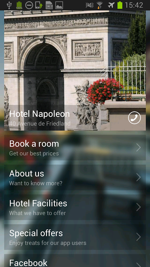 Hotel Napoleon Paris - screenshot