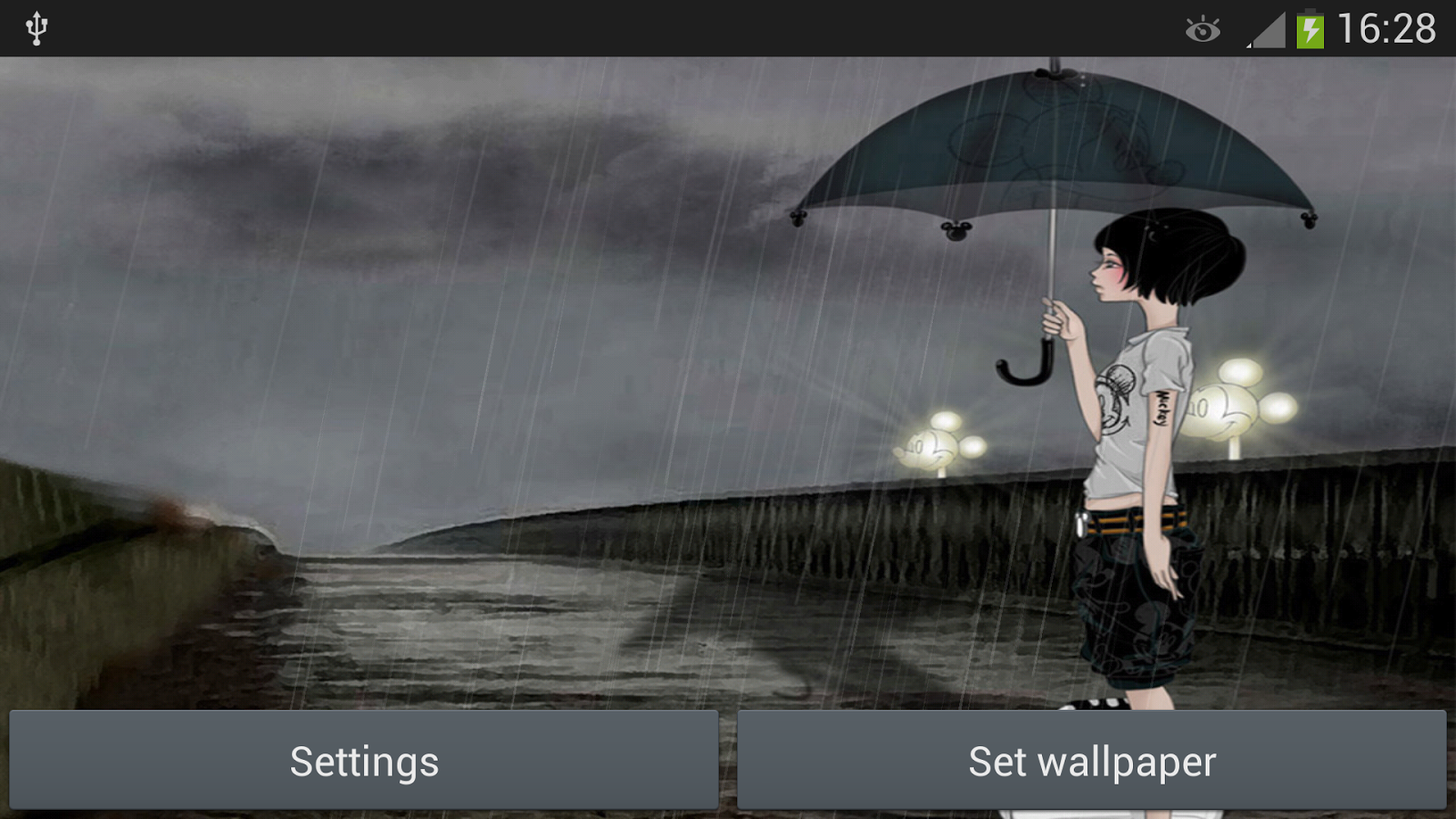 Rainy day girl live wallpaper android apps on google play rainy day girl live wallpaper screenshot ccuart Gallery