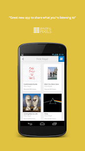 Share music with nowplaying- screenshot thumbnail
