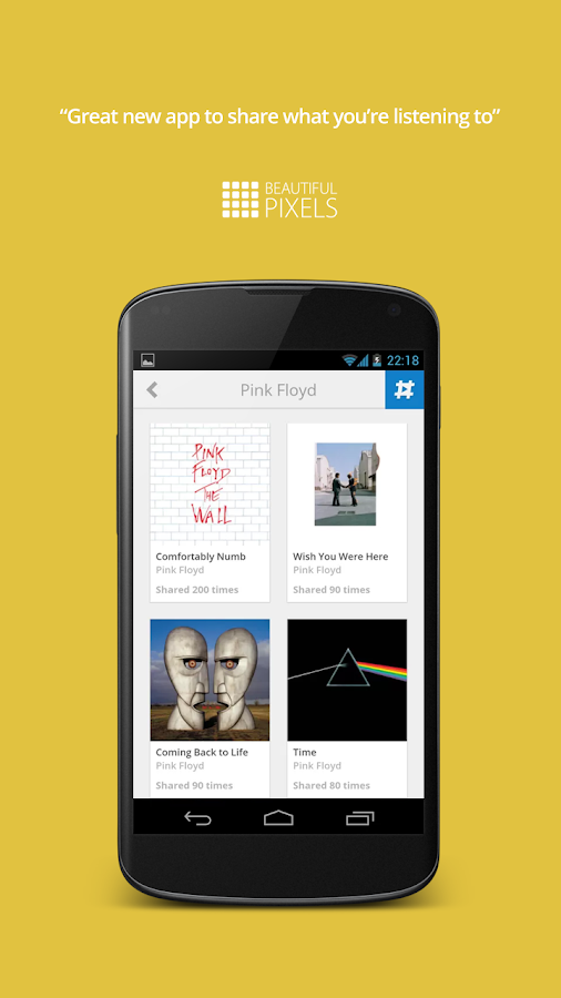 Share music with nowplaying- screenshot