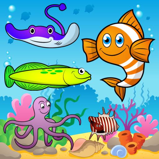 教育の幼児用パズル  魚や海と水産動物 LOGO-記事Game