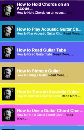 Guitar Chords Guide Free