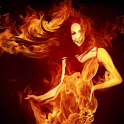 Fire Woman 3D icon
