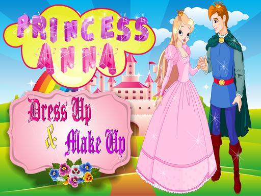 安娜公主装扮化妆