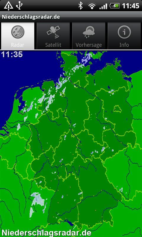 NiederschlagsRadar ohne Werb.- screenshot