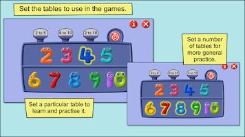 Screenshot of Times Tables - Numberjacks