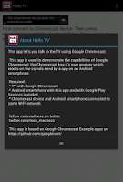 Screenshot of HelloTV (Chromecast app)
