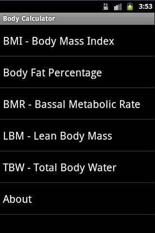 Body Calculator