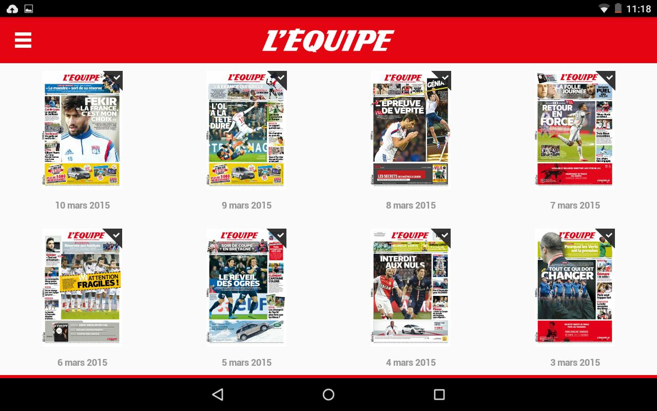 L'Equipe - Le Quotidien– Capture d'écran