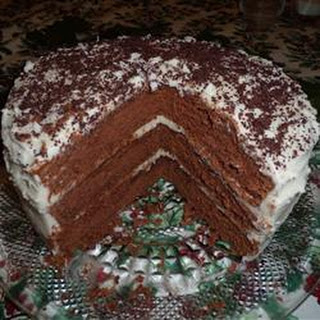 Chocolate Lizzie Cake with Caramel Filling