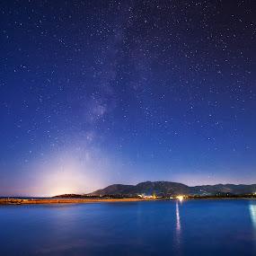 DeadWing by Gabriele Copez - Landscapes Starscapes ( water, italia, sardinia, stars, star, sea, seascape, italy, galaxy, milky way )