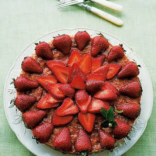 Almond Macaroon Galette with Strawberries.