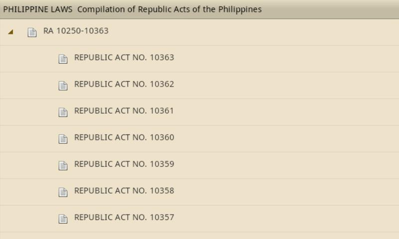Philippine Laws - Vol. 1- screenshot