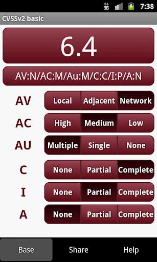 CVSS Calculator basic