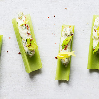 Stuffed Celery Sticks with Bacon and Scallion Cream Cheese