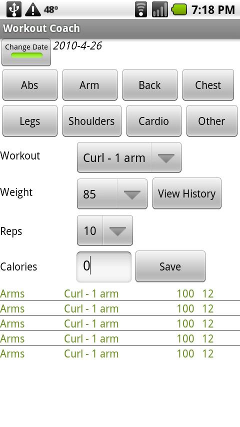 Workout Coach - screenshot